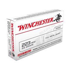 Winchester USA 223 Remington 55 Grain Full Metal Jacket 20 Rounds