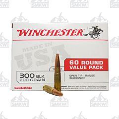 Winchester 300 BLK 200 Grain Open Tip Range Subsonic 60 Round Value Pack
