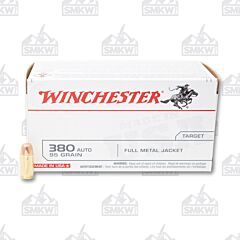 Winchester USA 380 ACP 95 Grain Full Metal Jacket 100 Rounds