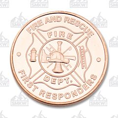 US Coppers Fire Department Copper Round