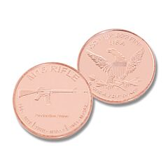 M16 Rifle One Ounce Copper Round