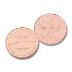 Winchester 73 Rifle One Ounce Copper Round