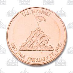 Marines Iwo Jima Copper Round
