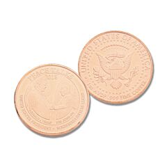 U.S and North Korea Peace Talks 2018 Once Ounce Copper Round