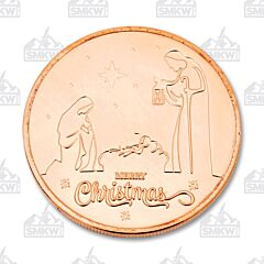 Nativity One Ounce Copper Round