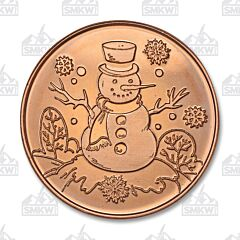 Snowman One Ounce Copper Round