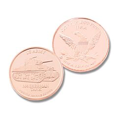 M4 Sherman Tank One Ounce Copper Round