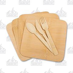 UST Brands Bamboo Dinner Set