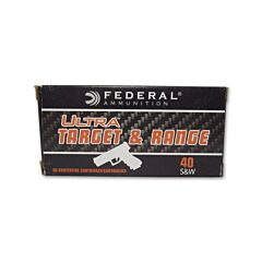 Federal Ultra Target & Range 40 S&W 180 Grain Full Metal Jacket 50 Rounds