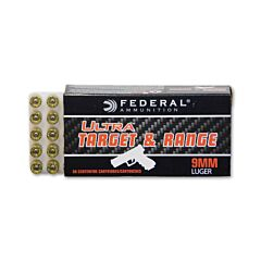 Federal Ultra Target and Range 9mm 115 Grain Full Metal Jacket 50 Rounds