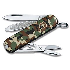 Victorinox Swiss Army Classic SD Camouflage Print Composition Handle Stainless Steel Blade Tools