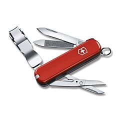 Victorinox Swiss Army Nail Clip 580 Red Cellidor Handle Stainless Steel Blade Tools