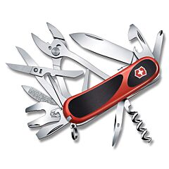 "Victorinox EvoGrip S557 3.375"" with Red Composition Handles and Stainless Steel Blades and Tools Model 2.5223.SC"