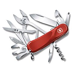 "Victorinox Swiss Army Evolution Grip S557 3.313"" with Red and Black Composition Handle and Stainless Steel Blades and Tools Model 04419"
