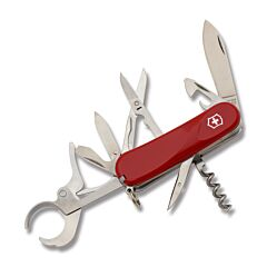"Victorinox Swiss Army Cigar 79 3.313"" with Red Composition Handle and Stainless Steel Blades and Tools Model 04424"