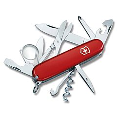"Victorinox Swiss Army Explorer 3.625"" with Red Composition Handle and Stainless Steel Blades and Tools Model 5030R"