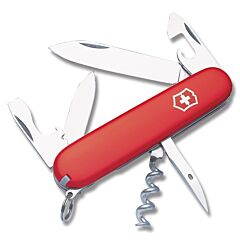 "Victorinox Swiss Army Spartan 3.625"" with Red Composition Handle and Stainless Steel Blades and Tools Model 53151"