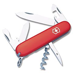 "Victorinox Swiss Army Spartan 3.625"" with Red Composition Handle and Stainless Steel Blades and Tools Model 53251"