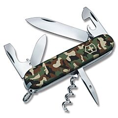 "Victorinox Swiss Army Spartan 3.625"" with Camo Print Composition Handle and Stainless Steel Blades and Tools Model 53353"