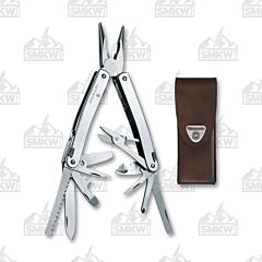 Victorinox Swisstool Spirit X with Leather Pouch