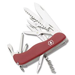 "Victorinox Swiss Army Hercules 4.439"" with Red Composition Handle and Stainless Steel Blades and Tools Model 54751"