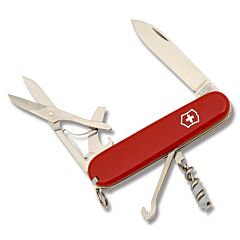 "Victorinox Swiss Army Compact 3.625"" with Red Composition Handle and Stainless Steel Blades and Tools Model 54941"