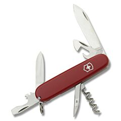 "Victorinox Swiss Army Spartan 3.625"" with Red Composition Handle and Stainless Steel Blades and Tools Model 56151"
