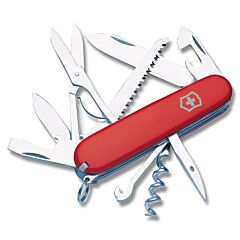 """Victorinox Swiss Army Huntsman 3.625"""" with Red Composition Handle and Stainless Steel Blades and Tools Model 56201"""