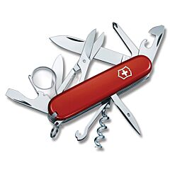"Victorinox Swiss Army Explorer 3.625"" with Red Composition Handle and Stainless Steel Blades and Tools Model 56823"