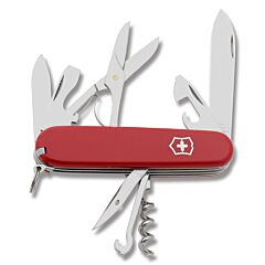 """Victorinox Climber 3.625"""" with Red Composition Handle and Stainless Steel Blades and Tools Model 53641"""