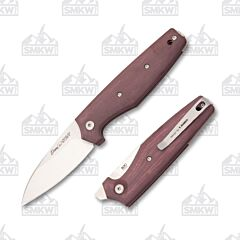 Viper Dan 2 Burgundy Canvas Micarta