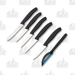 Victorinox Six Piece Swiss Classic Paring Set Black