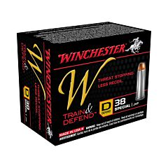 Winchester W Defend Reduced Recoil 38 Special 130 Grain Jacketed Hollow Point 20 Rounds