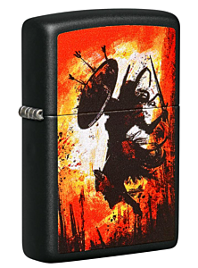 Zippo Warrior Black Matte Lighter
