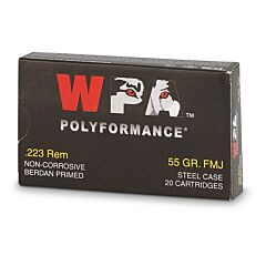 Wolf Polyformance 223 Remington 55 Grain Full Metal Jacket 20 Rounds
