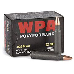 Wolf Polyformance 223 Remington 62 Grain Hollow Point 20 Rounds