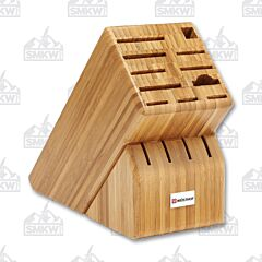 Wusthof 15-Slot Bamboo Wood Knife Storage Block