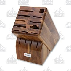 Wüsthof 15-Slot Acacia Wood Knife Storage Block