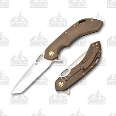 Olamic Cutlery Wayfarer 247 Tanto Bronze Compound Grind