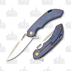 Olamic Tactical Wayfarer 247 Drop Point Satin Blue Kinetic