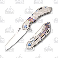 Olamic Cutlery Wayfarer 247 Sheepscliffe Frosty Timascus Inlay
