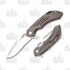 Olamic Cutlery Wayfarer 247 Satin Harpoon Gray Kinetic Mist