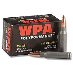 Wolf Performance 308 145 Grain Full Metal Jacket 20 Rounds