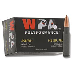 Wolf Performance 308 145 Grain Full Metal Jacket 500 Rounds