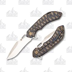 Olamic Cutlery Wayfarer 247 Harpoon Scalloped Flame Color Finish Satin 1353
