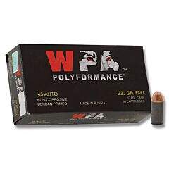 Wolf Polyformance 45 ACP 230 Grain Full Metal Jacket 50 Rounds