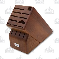 Wüsthof 15-Slot Walnut Wood Knife Storage Block