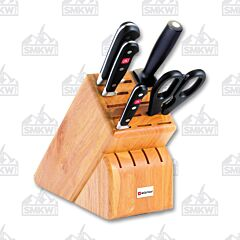 Wusthof Classic 6 Piece Natural Wood Block Set