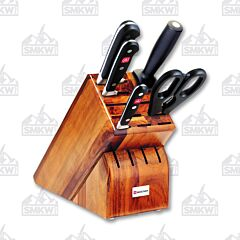 Wusthof Classic 6 Piece Acacia Wood Block Set