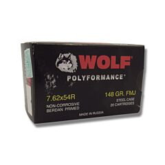 Wolf Performance 7.62x54r 148 Grain Full Metal Jacket 20 Rounds
